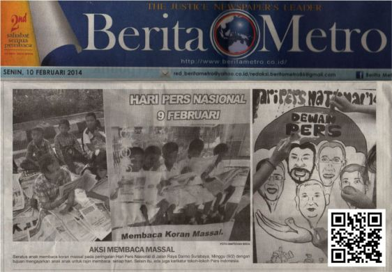 Berita Metro Senin 10 Feb 2014 edit yppi membaca