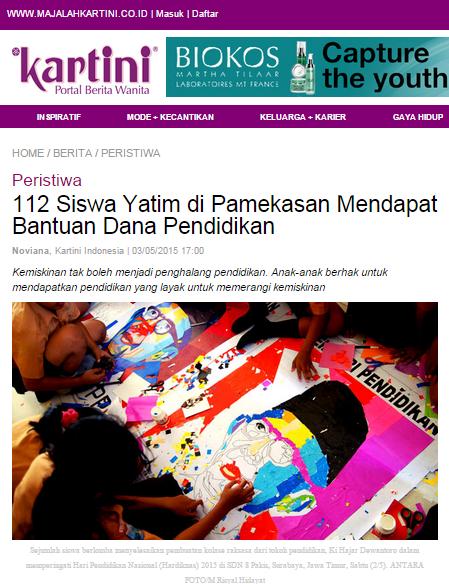 YPPI Majalah Kartini Kolase Hari Pendidikan